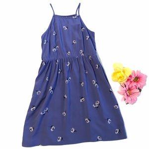 OLD NAVY Dress Blue White Floral Print Sundress